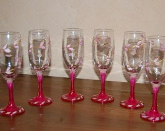 Flûtes à Champagne Roses