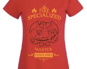 CHARIZARD T SHIRT fire specialized master