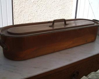 Fish kettle .  Copper items, Vintage. Copper pan Fish Kettle Poacher Poissoniere