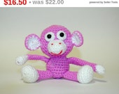 Free shipping Amigurumi Doll, Soft Toy for Children, Amigurumi Monkey, Amigurumi Crochet Animals, Soft Doll, Monkey ornament, Hand Croche...