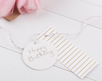 Gold Foil Stripe Gift Tags