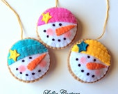 RESERVED Christmas Cookie Ornaments / Christmas Ornaments / Felt Ornaments