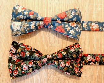 Man Floral Bow Tie, Wedding Accessories, groom, Vintage collection
