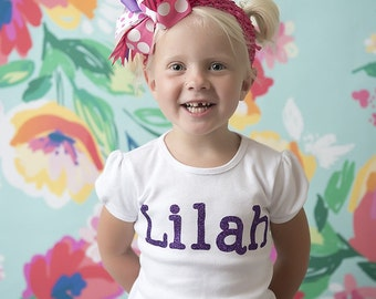 Sparkle  Customized Name Onesies and Shirts!!