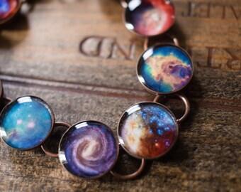 Galaxy Space Bracelet, Nebula Star Jewelry, Outer Space Bracelet, Star Jewelry, Astronomy Gift