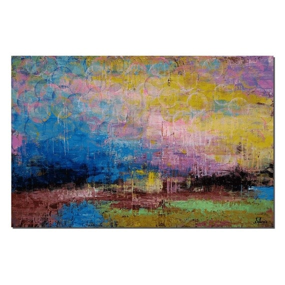 large art living room wall art large painting original art