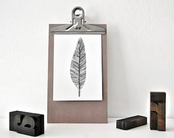 FEATHER - black & white Postcard