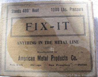 Vintage Fix-IT metal for melting repairing
