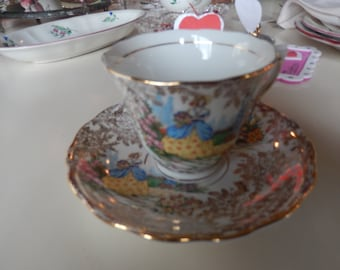 ENGLAND COCLOUGH TEACUP and Saucer Set