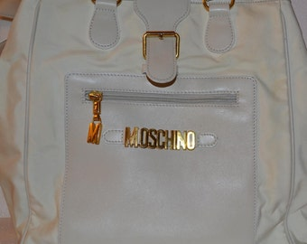 MOSCHINO REDWALL handbag authentic in off white color/ vintage moschino handbag/an.608