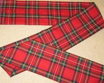 """Kilt Sashes on Sale~Red Royal Stewart Plaid Sashes~Dress Stewart Black Stewart and Modern  Buchanan Plaid Sashes~57"""" Long Sash@sohoskirts"""
