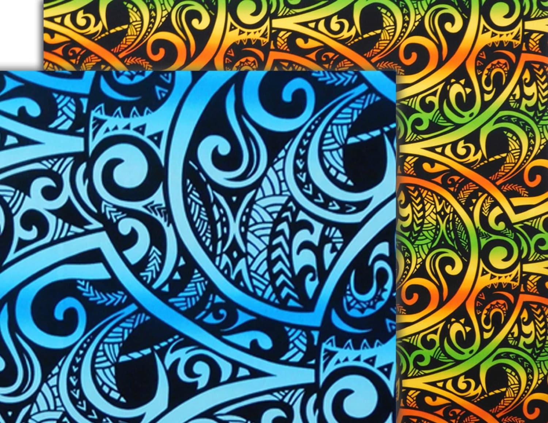 Tapa Fabric Tribal Polynesian Tattoo by HawaiianFabricNBYond