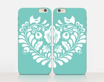 Heart BFF Phone Case For- iPhone 8, 8 Plus, X, iPhone 7 Plus, 7, SE, 5, 6S Plus, 6S, 6 Plus, Samsung S8, S8 Plus, S7, S7 Edge