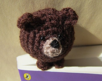 Book Buddy Brown Bear Bookmark - Crochet Amigurumi Gift, Toy, Finished Product