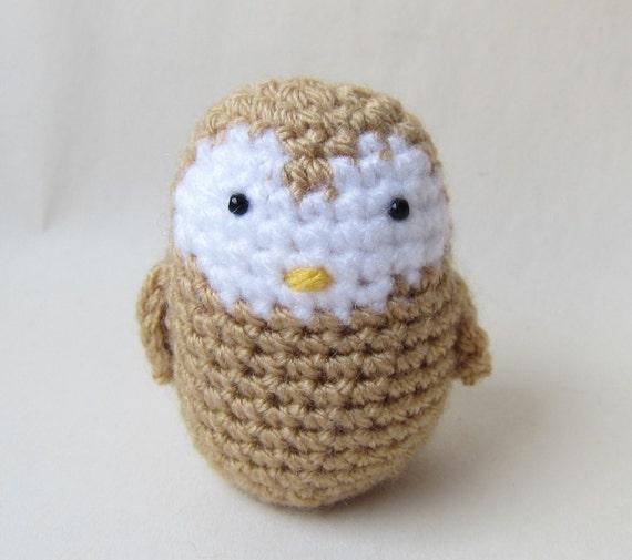 Amigurumi Barn Owl : Little Barn Owl Crochet Amigurumi Woodlands Series Gift