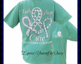 Southern Couture, Like Simply Southern, Faith Hope Cure, Fall 2016, Comfort Colors, Comfort Collection, Seafoam, Long Sleeve, Short Sleeve