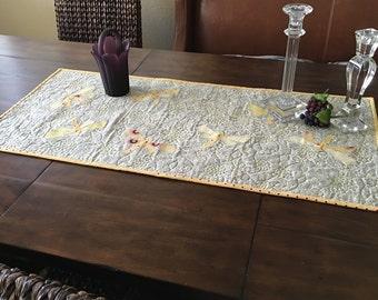 Dragon Fly table runner or wall hanging