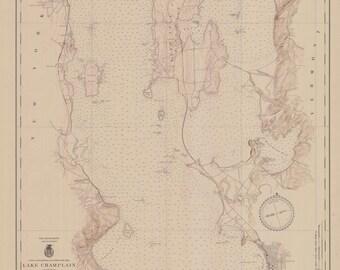 Lake Champlain Map 1942