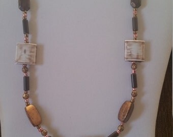 Copper and Brown Necklace