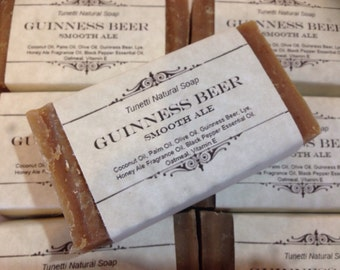 Guinness Beer Natural Homemade Moisturizing Soap Bar with Smooth Ale Scent