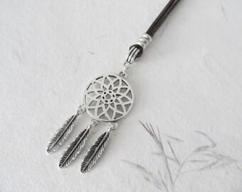 Dreamcatcher necklace, bohemian necklace