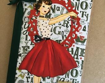 Retro Christmas Scrap/Junk Journal & Embellishment Pack