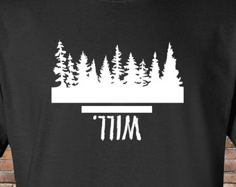 Stranger Things Shirt--Based on Netflix original series--The Upside Down--Mens and/or Womens sizes--Will- Eleven