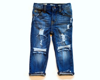 Greyson Style Distressed Denim Ripped Jeans
