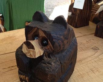 Chainsaw Carved Chubby Bear Cub