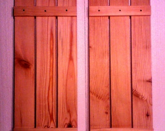 Rustic decorative shutters
