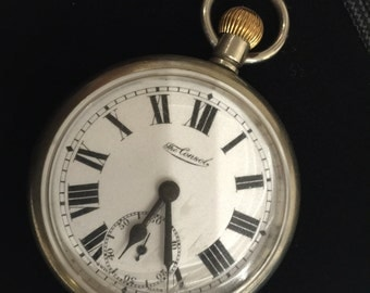 An Antique Swiss Pocket Watch. Beginning of XX c. Porcelain dial.