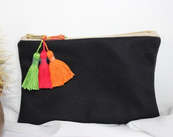 Cashmere and wool purse