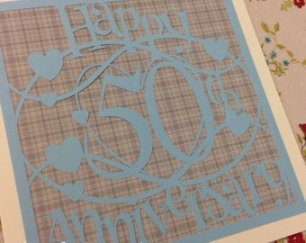 Happy 50th Anniversary Paper Cutting Template - Commercial Use
