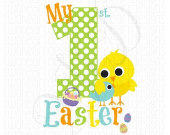 My 1st Easter Chick Eggs Iron On - Digital Download - You Print