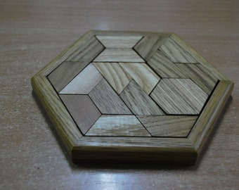 Puzzle, Tangram, Tangram 9 pieces, Tangram Puzzle Game, Jigsaw Puzzle, Wooden Game, Woodworking, Games for Brain