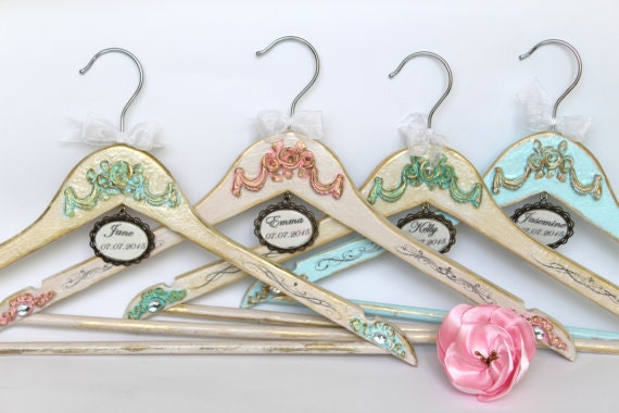 French Wedding Gifts: Wedding Hanger Bridesmaid Gifts Bride Gift French Rococo