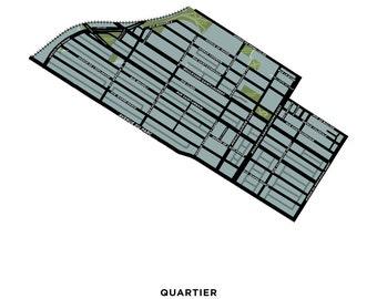 Mile End Neighbourhood Map Print