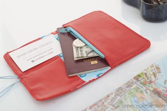 porte monnaie portefeuille femme cuir rouge id e cadeau. Black Bedroom Furniture Sets. Home Design Ideas