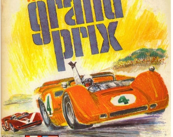 Vintage Reproduction Racing Poster 1968 Monterey Grand Prix Can-Am