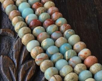 Impression Jasper Beads 8mm Rondelle Full Strand