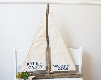 Nautical Wedding Centerpiece Driftwood Sailboat