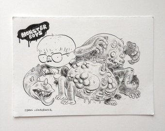 Original Drawing- Monster Boys
