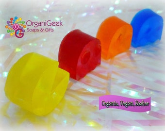 Pac Man Inspired Soap - Organic Vegan Geeky Soap Set, Pac Man Inspired Arcade Gamer Soap - Arcade Soap - Novelty - Classic Video Game Soap