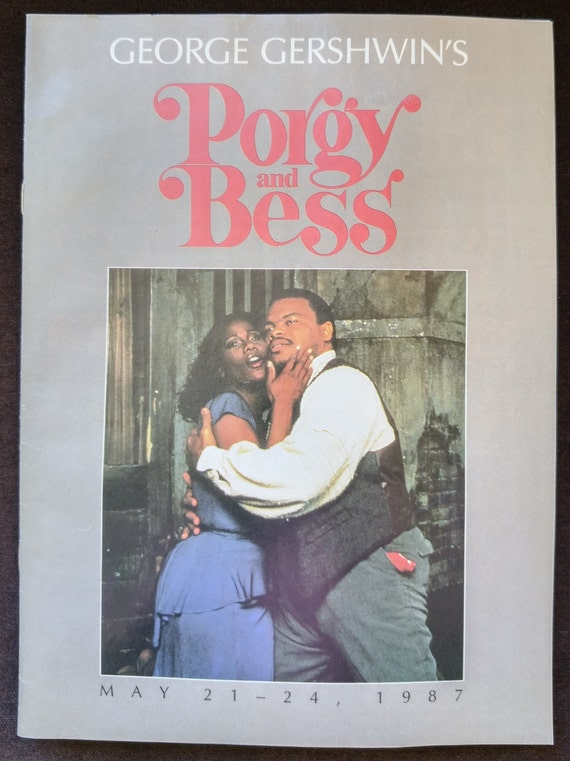 Porgy And Bess Theater Program George Gershwin Musical Play