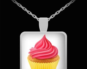 Cupcake Pendant Necklace