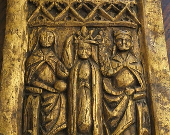Queen Coronation Wood Plaque
