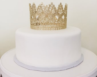 LACE CROWN; Lace Princess Crown, Crown Cake Topper, Photo Prop