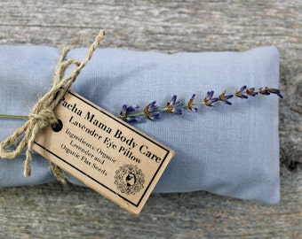 Lavender Eye Pillow - Grey • Relaxation • Meditation • Yoga  • Organic Body Care