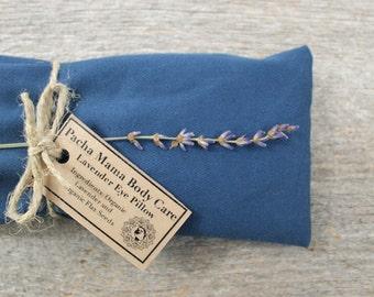 Lavender Eye Pillow • Blue • Relaxation • Yoga • Calm • Peace • Eye Cover • Meditation • Organic Body Care