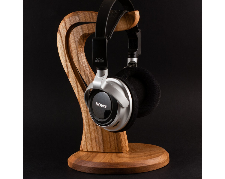 Wooden headphone stand - Wooden headphone holder ...